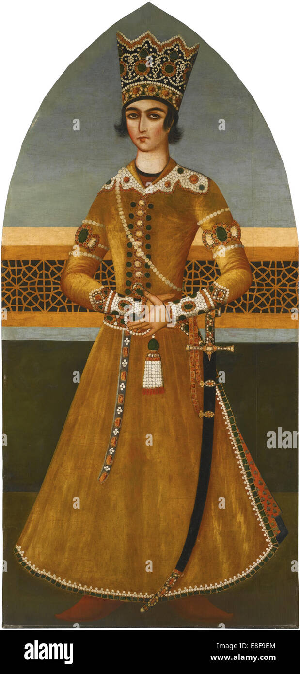 Portrait of Prince Abbas Mirza. Artist: Mihr Ali (Early 19th cen.) - Stock Image