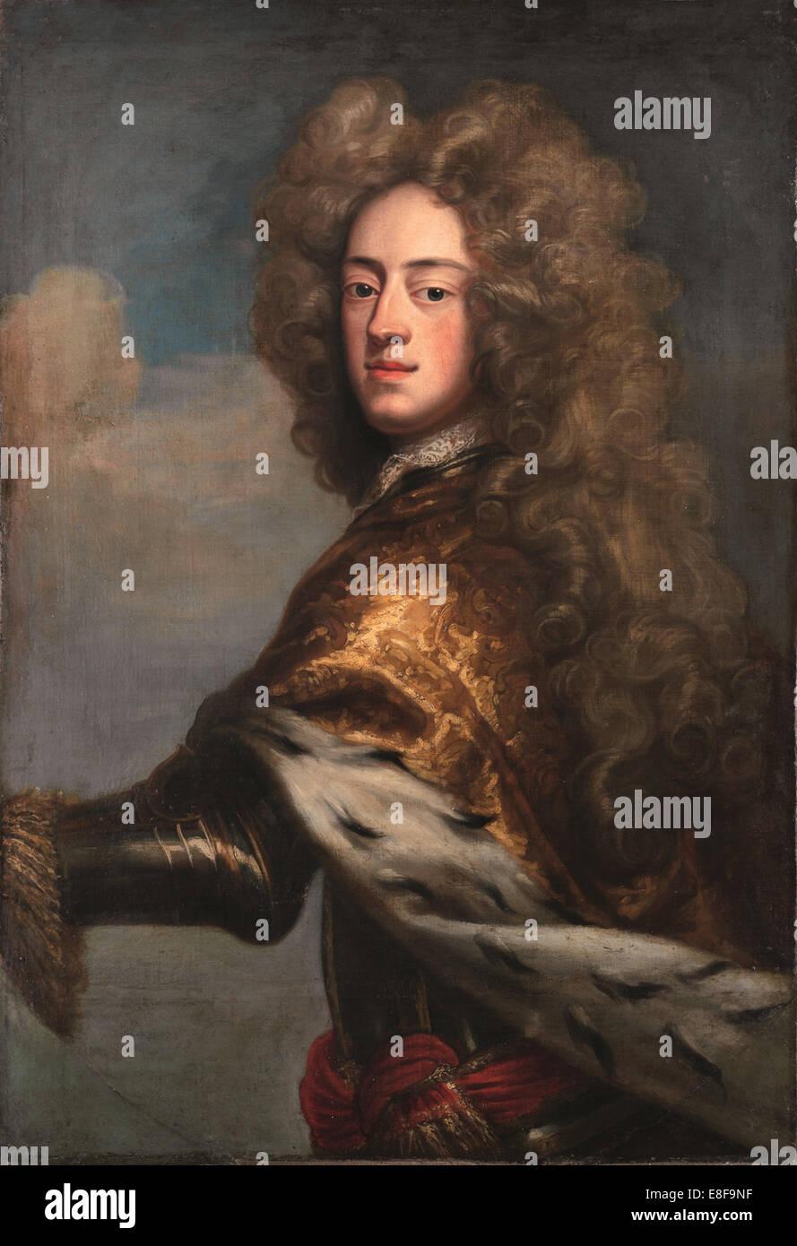 George II as Prince of Wales. Artist: Hirschmann, Johann Leonhard (1672-1750) - Stock Image