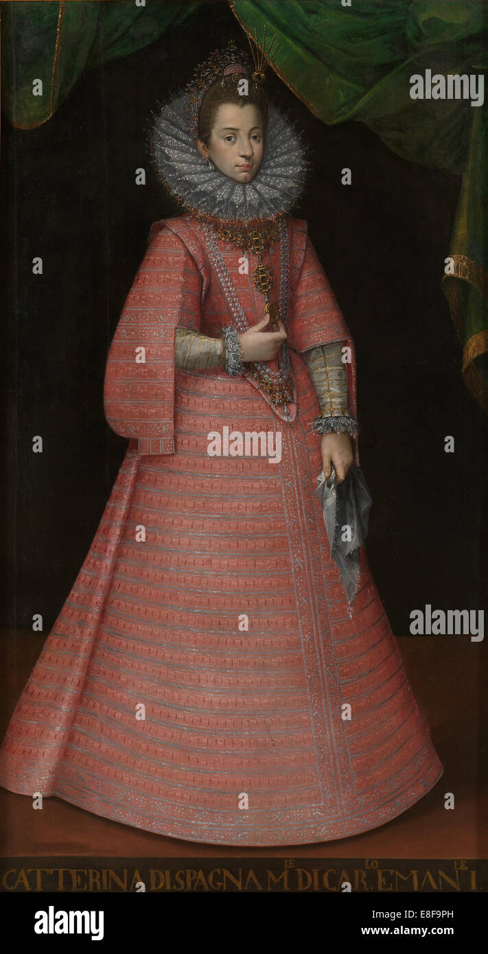 Portrait of the Infanta Catherine Michelle of Spain (1567-1597). Artist: Anonymous - Stock Image