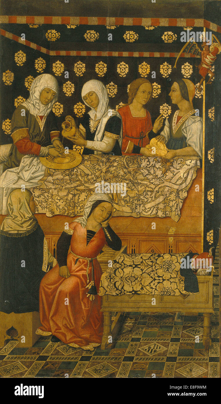 The Birth of Saint Stephen. Artist: Vergós Family (active End of 15th cen.y) - Stock Image