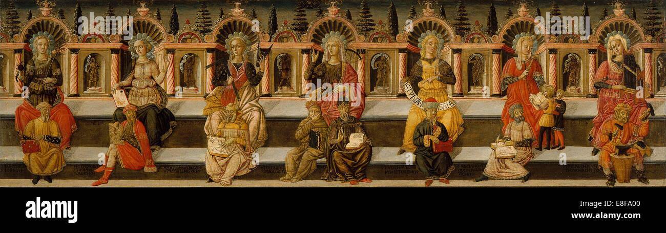 The Seven Liberal Arts. Artist: Giovanni di Ser Giovanni, (Lo Scheggia) (1406-1486) - Stock Image
