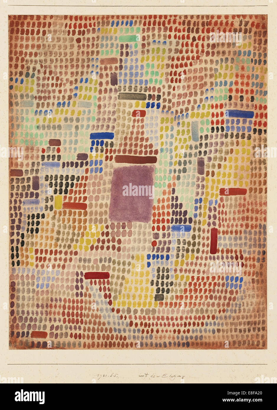 With the Entrance. Artist: Klee, Paul (1879-1940) - Stock Image