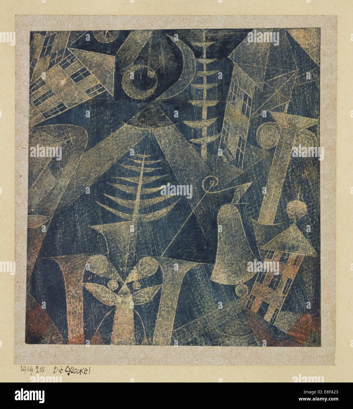 The bell!. Artist: Klee, Paul (1879-1940) - Stock Image