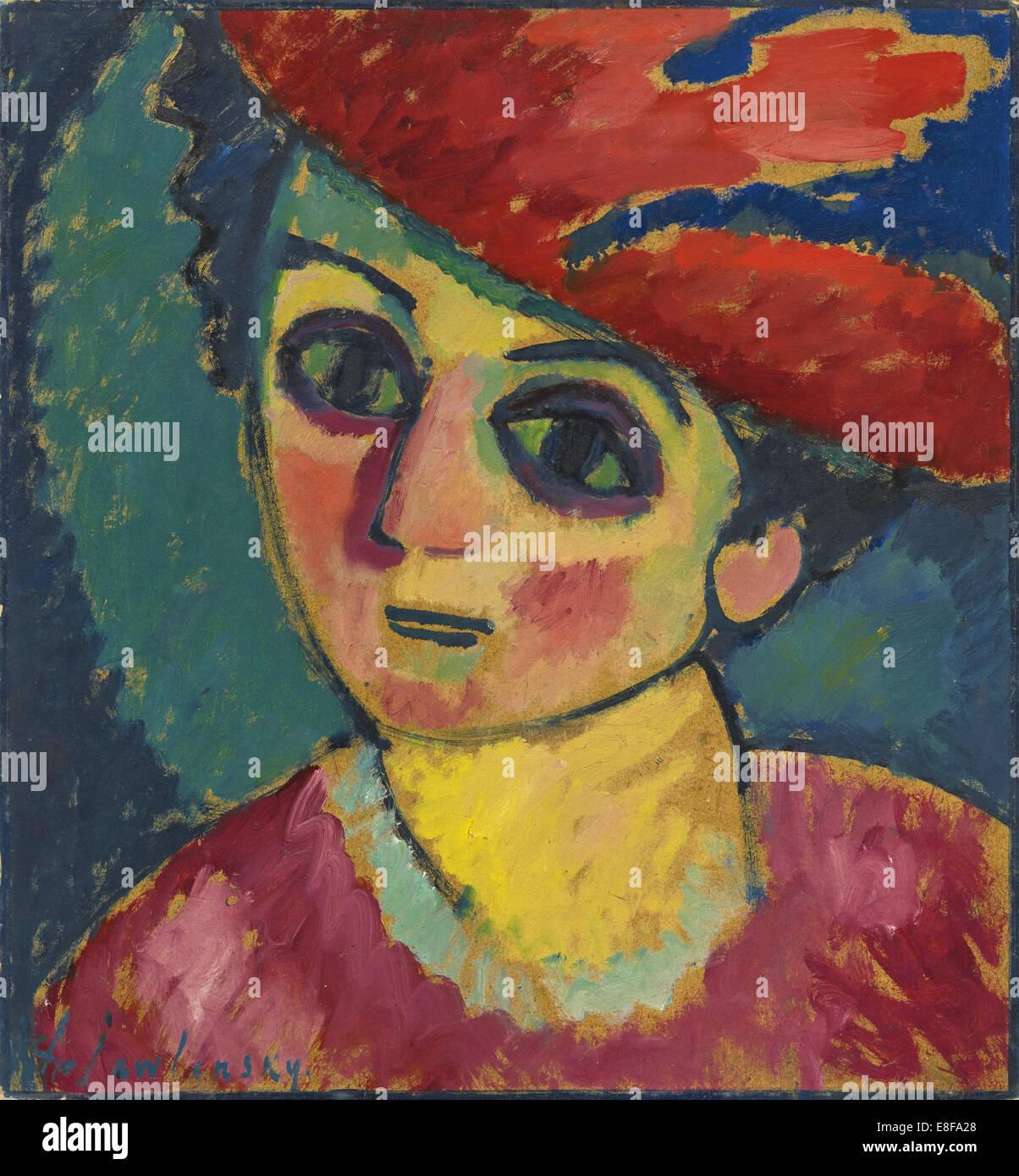 Red Hat. Artist: Javlensky, Alexei, von (1864-1941) - Stock Image