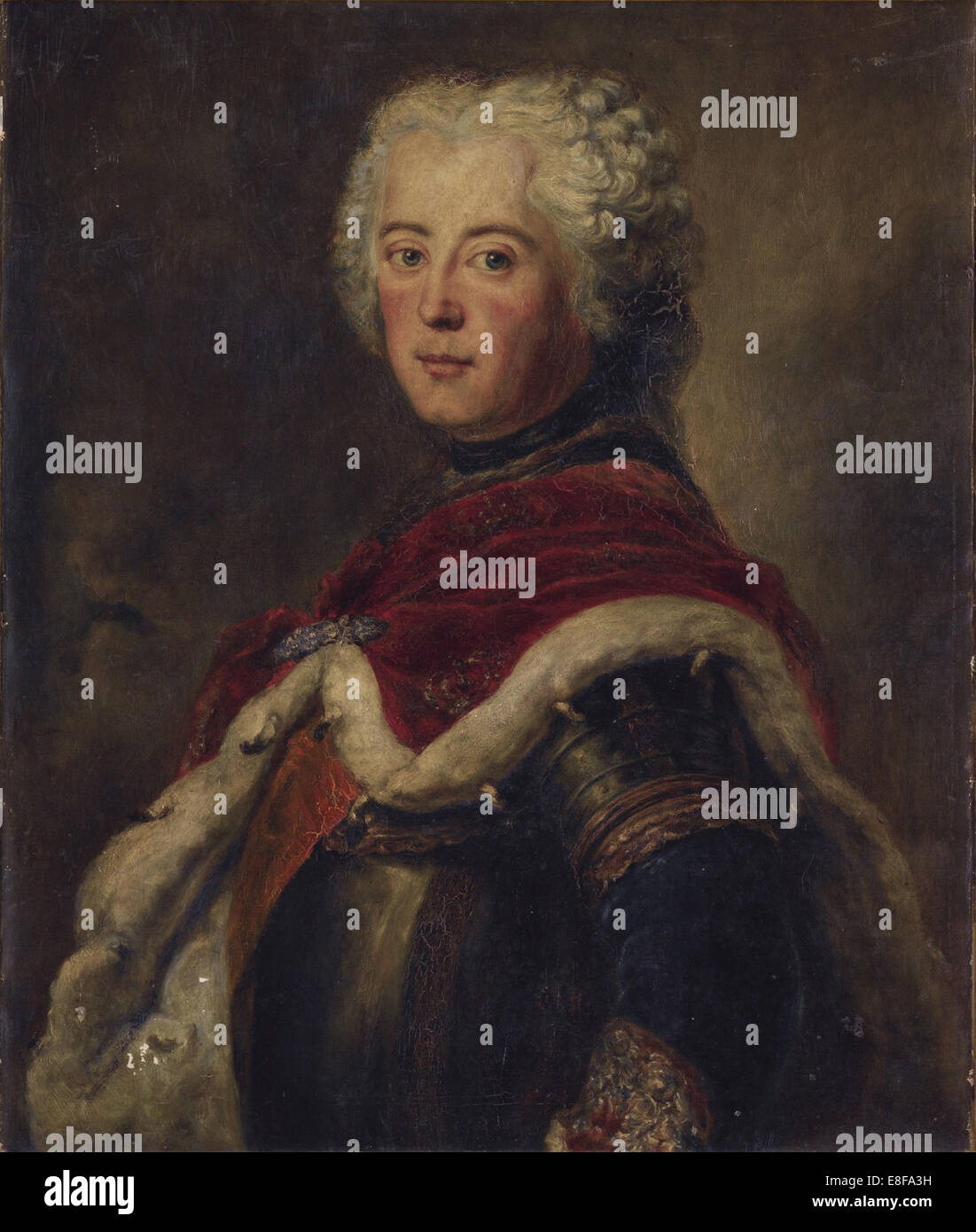 Portrait of Frederick II of Prussia (1712?1786). Artist: Pesne, Antoine (1683-1757) - Stock Image
