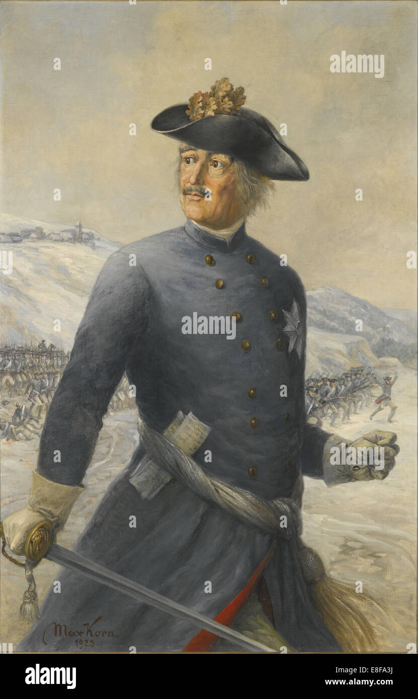 Leopold I, Prince of Anhalt-Dessau (1676-1747), Generalfeldmarschall in the Prussian Army. Artist: Korn, Max (active - Stock Image