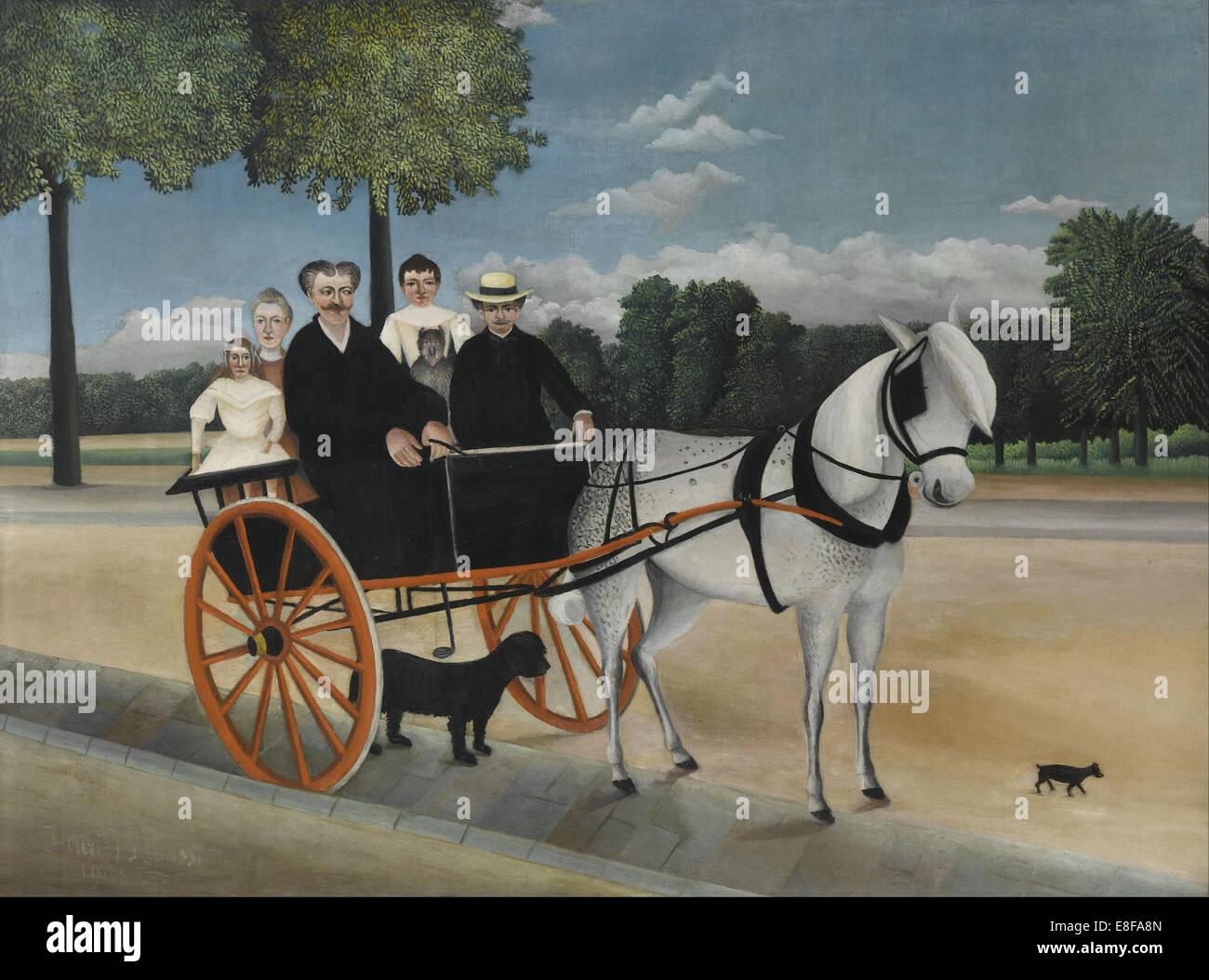 Old Junier's Cart. Artist: Rousseau, Henri Julien Félix (1844-1910) Stock Photo