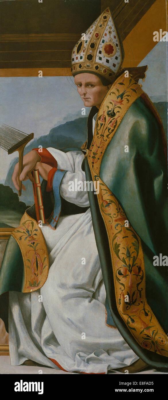 Saint Blaise. Artist: Fernández, Pere (active 1517-1521) - Stock Image