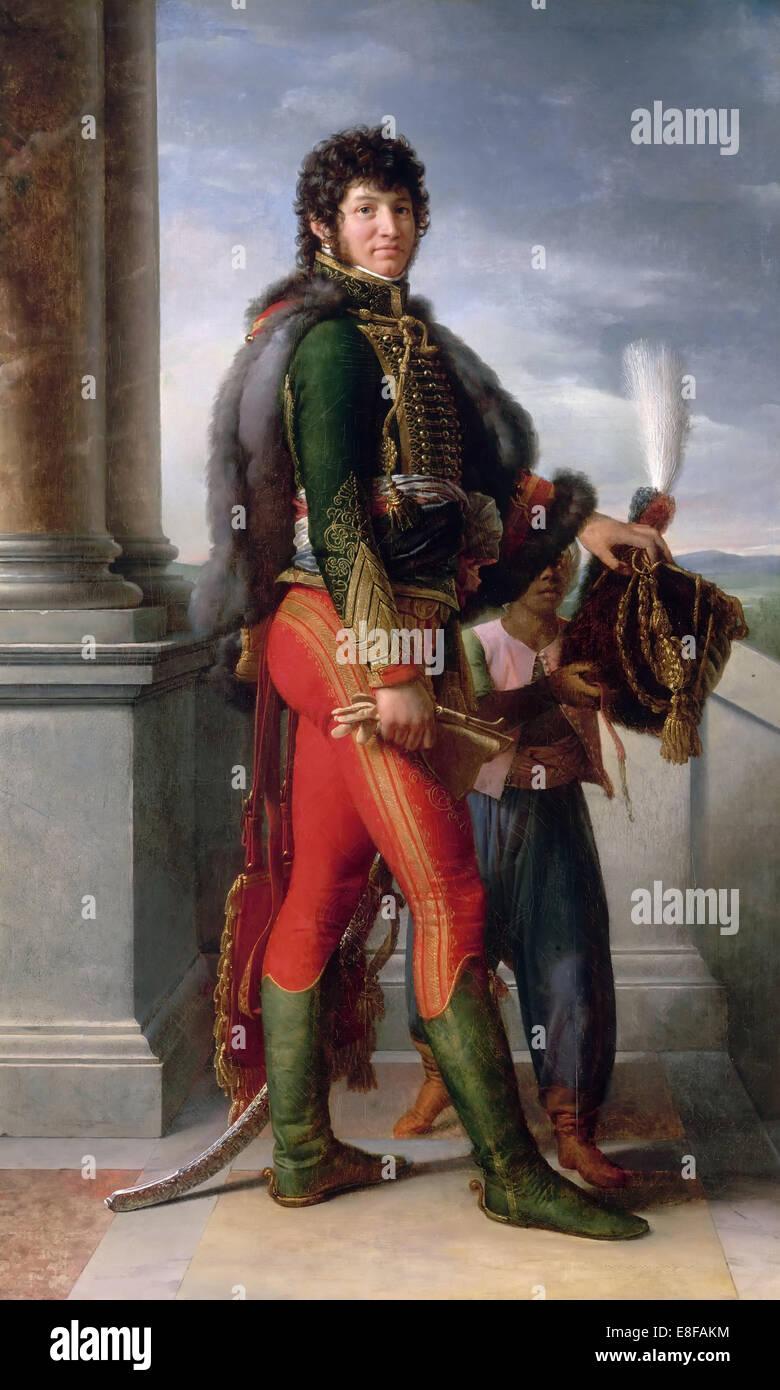 Portrait of Joachim Murat (1767-1815). Artist: Gérard, François Pascal Simon (1770-1837) - Stock Image