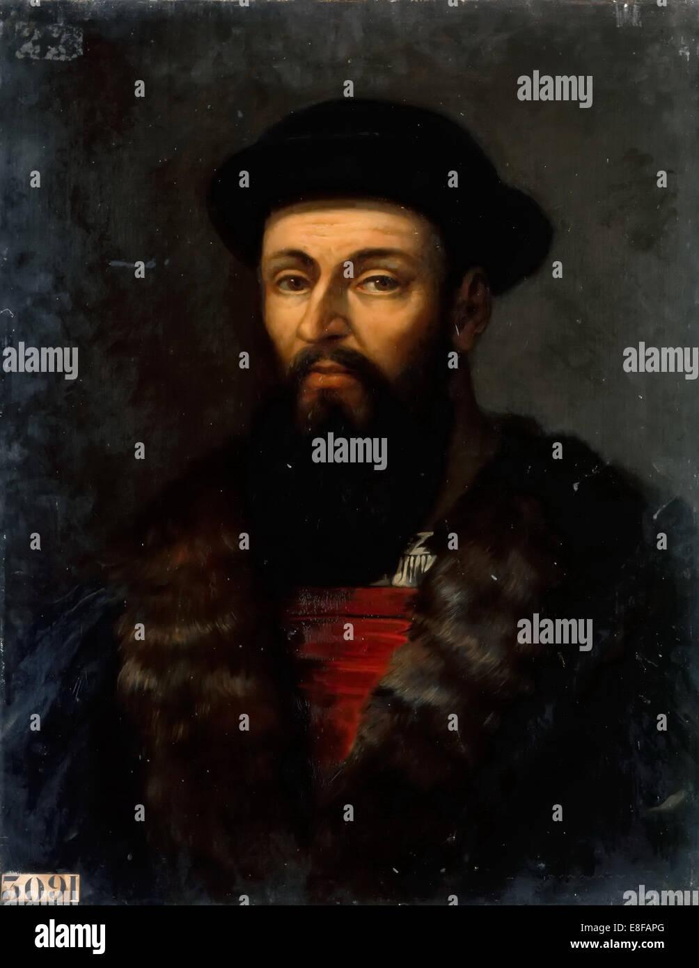 Portrait of Ferdinand Magellan (1470-1521). Artist: Larivière, Charles-Philippe (1798-1876) - Stock Image