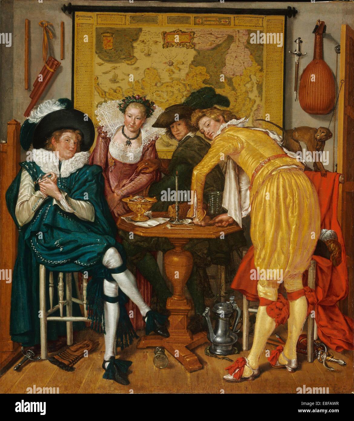 Merry company. Artist: Buytewech, Willem Pietersz. (1591/92-1624) - Stock Image