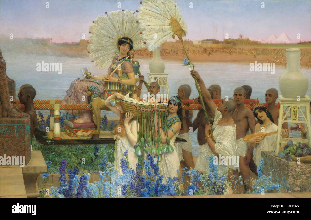 The Finding of Moses. Artist: Alma-Tadema, Sir Lawrence (1836-1912) - Stock Image