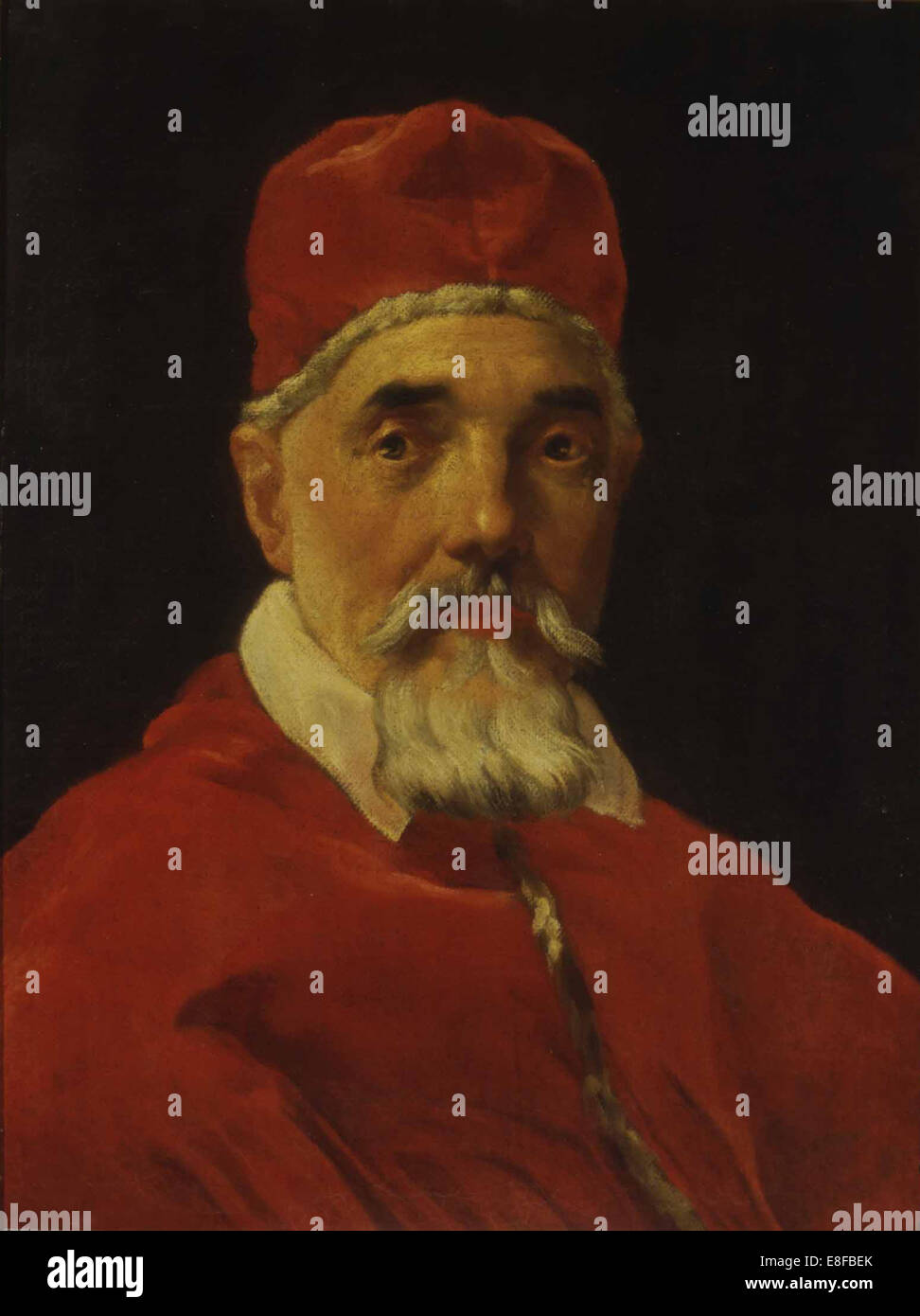 Portrait of Pope Urban VIII. Artist: Bernini, Gianlorenzo (1598-1680) - Stock Image