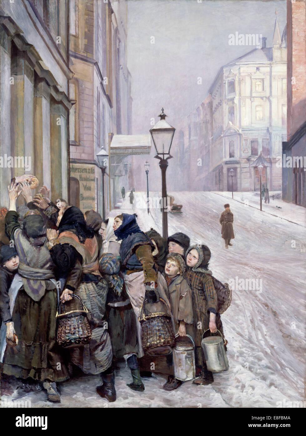 Struggle for Survival. Artist: Krohg, Christian (1852-1925) - Stock Image
