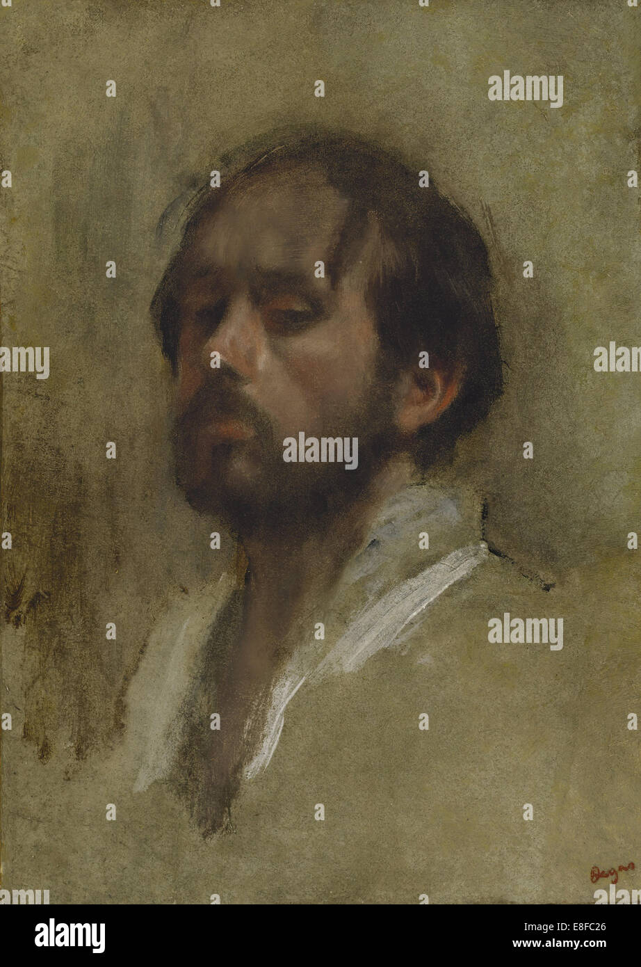 Self-Portrait. Artist: Degas, Edgar (1834-1917) - Stock Image