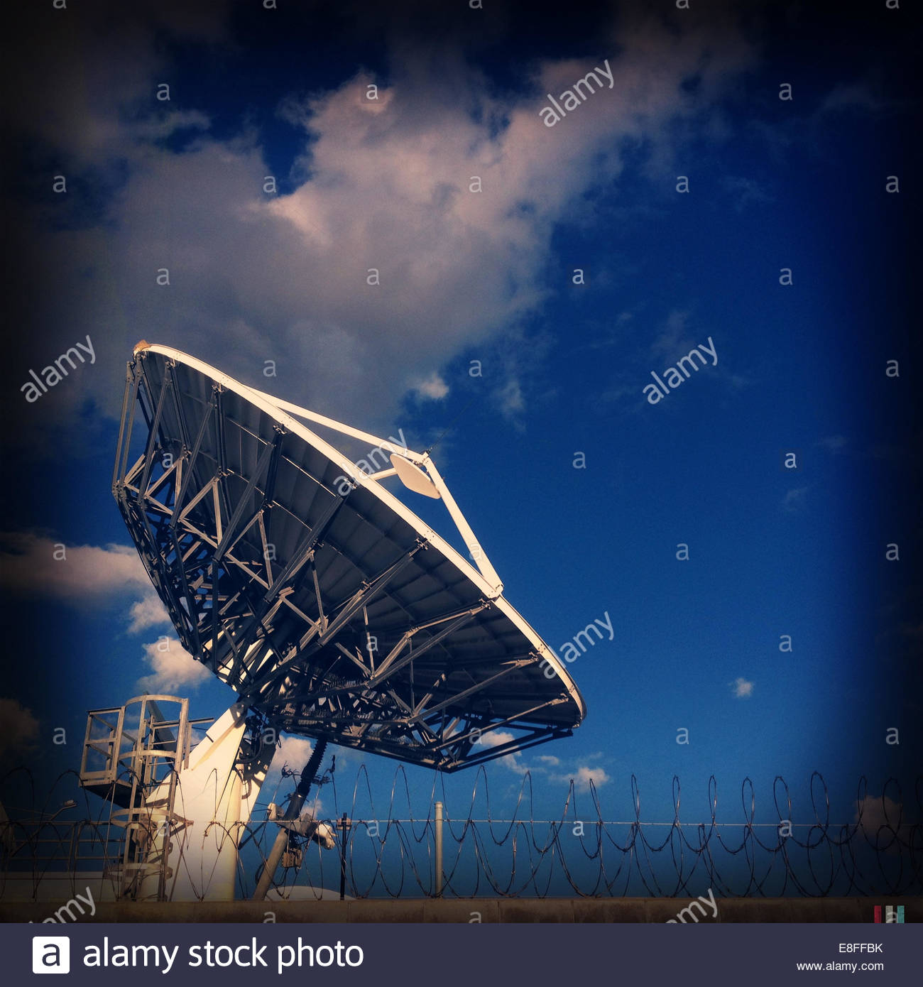 USA, California, Los Angeles, Satellite dish - Stock Image