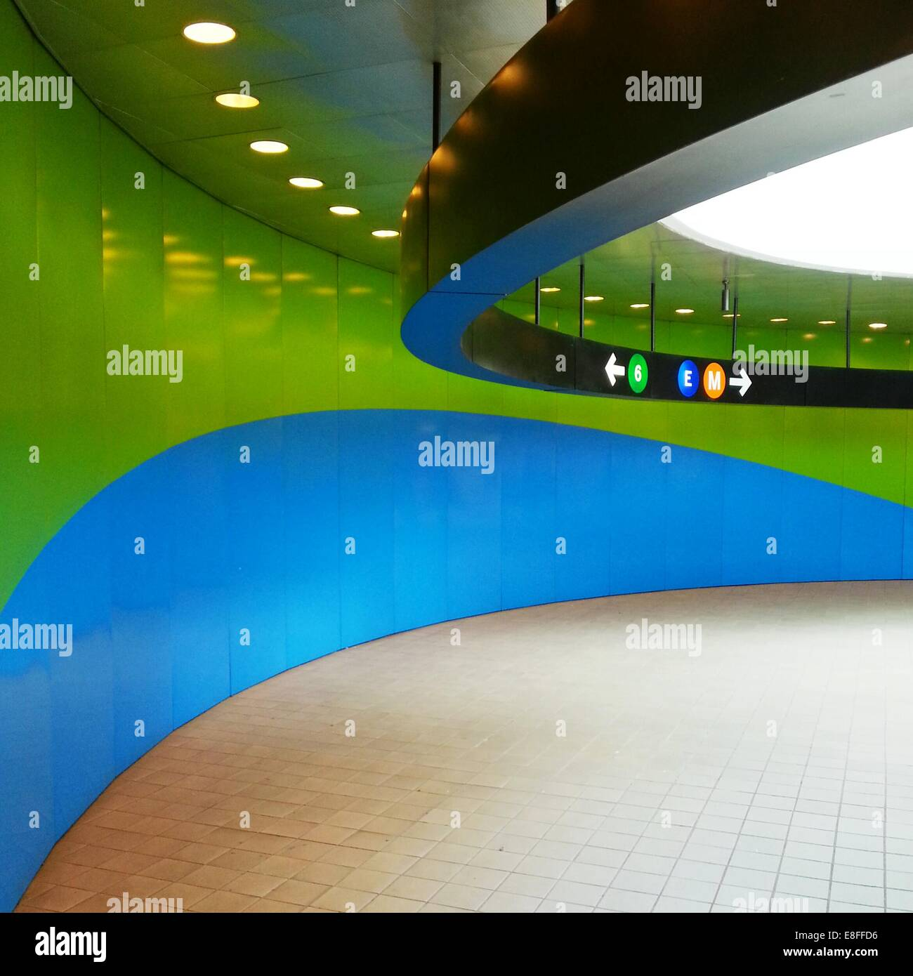 USA, New York State, New York City, Subway - Stock Image