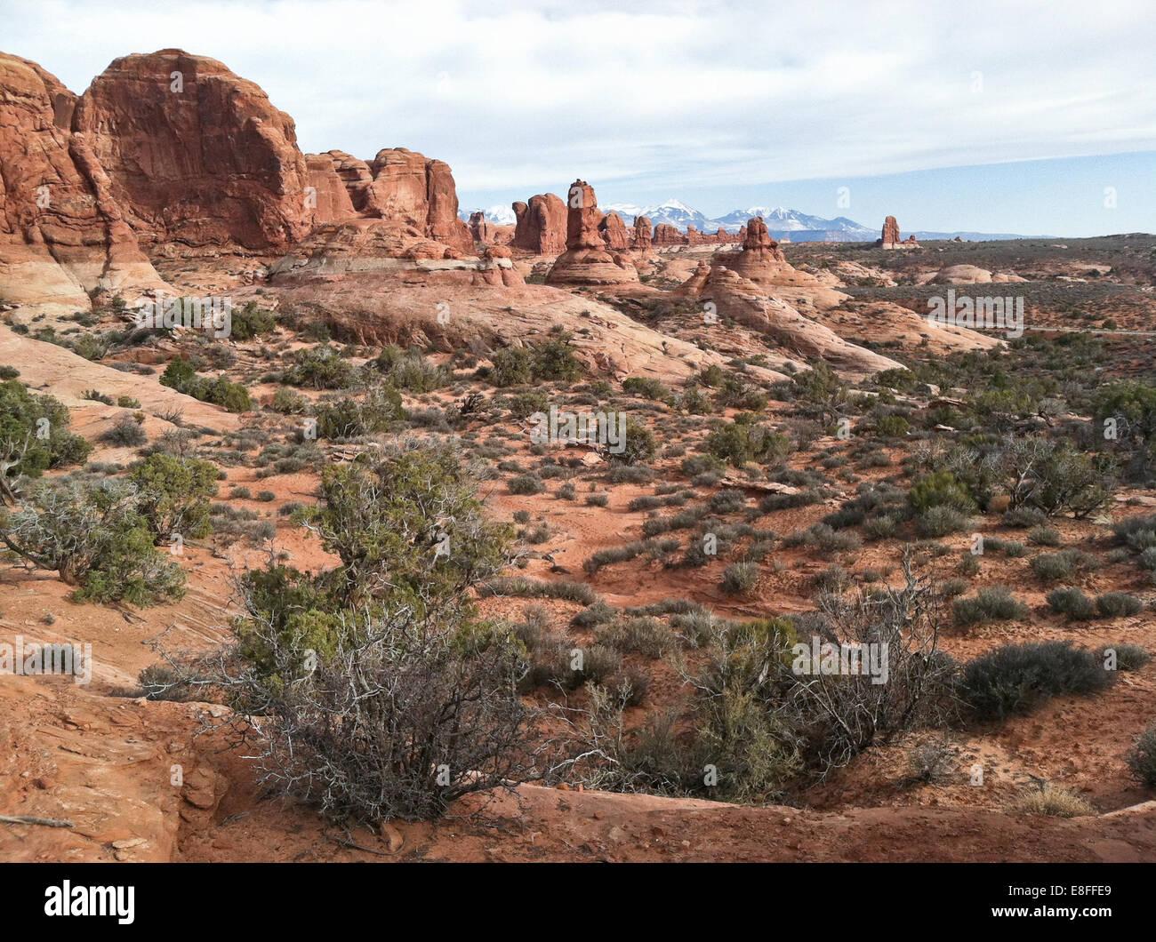 USA, Utah, Arches National Park - Stock Image