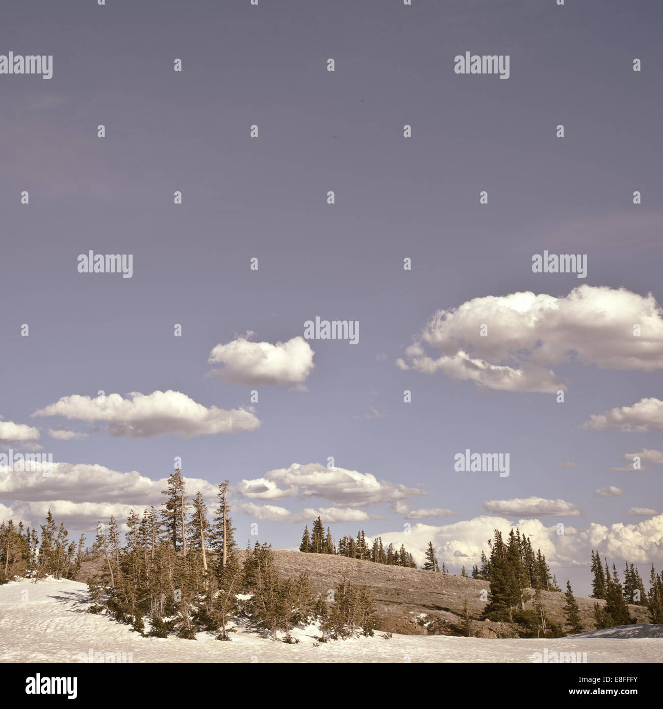 Clouds over hills - Stock Image