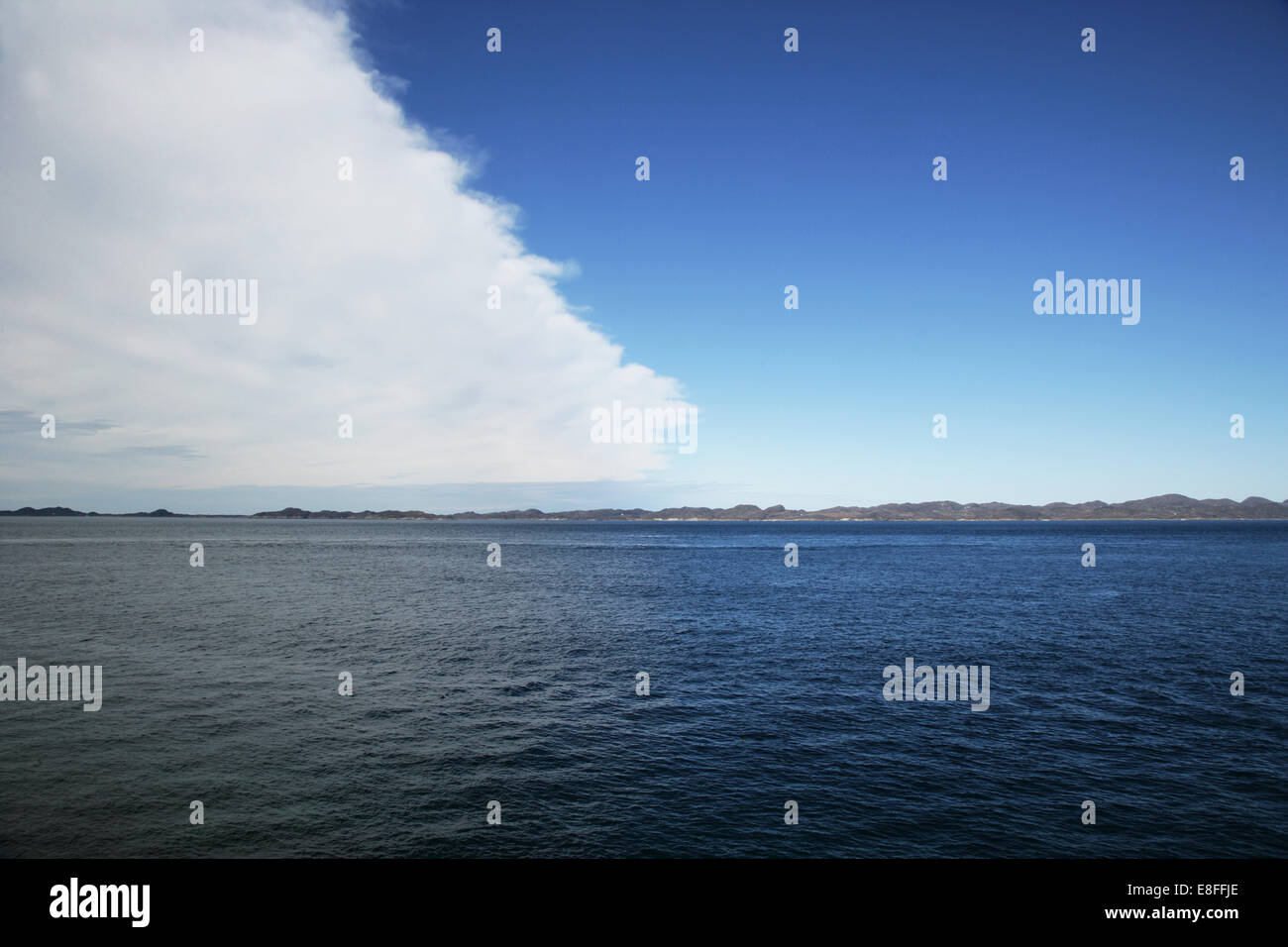 Cloud moving across sky, Greenland Stock Photo