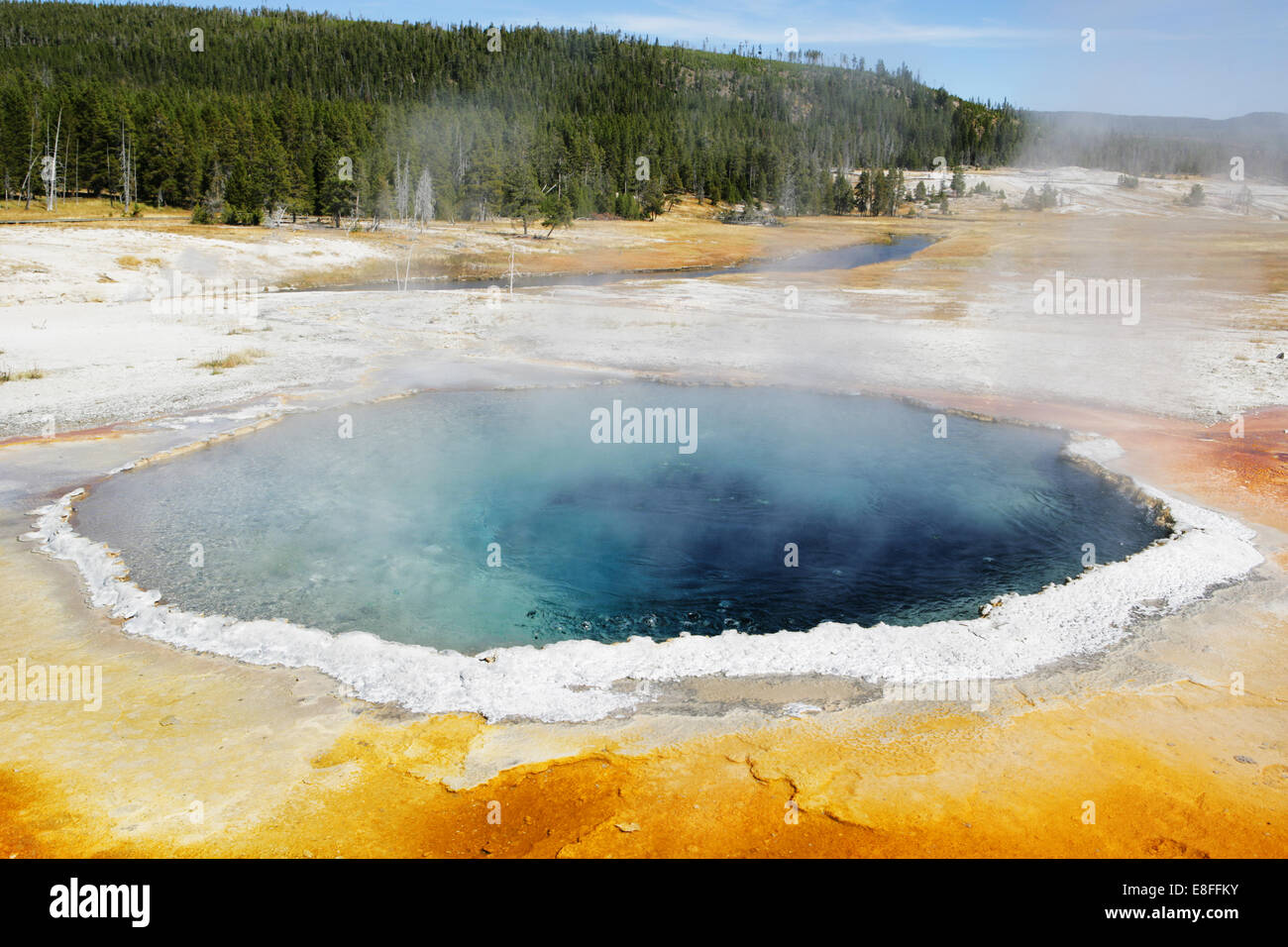 USA, Wyoming, Yellowstone National Park, Hot springs - Stock Image