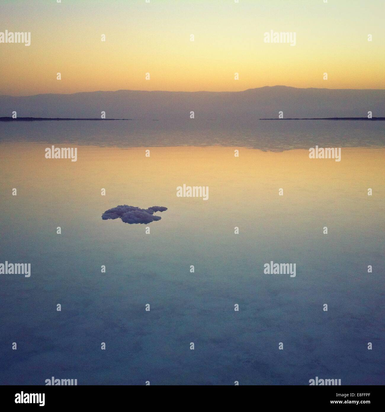 Sunrise over the Dead Sea, Israel - Stock Image