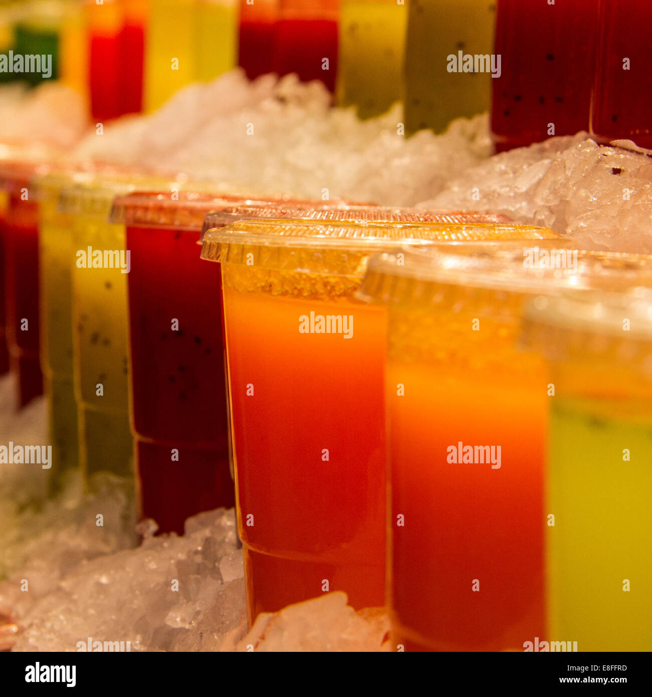 Close-up of fruit juices - Stock Image