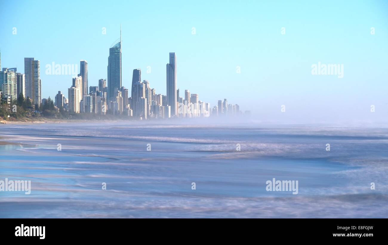 Surfer's Paradise seen from Miami Park overlook, Gold Coast, queensland, Australia - Stock Image