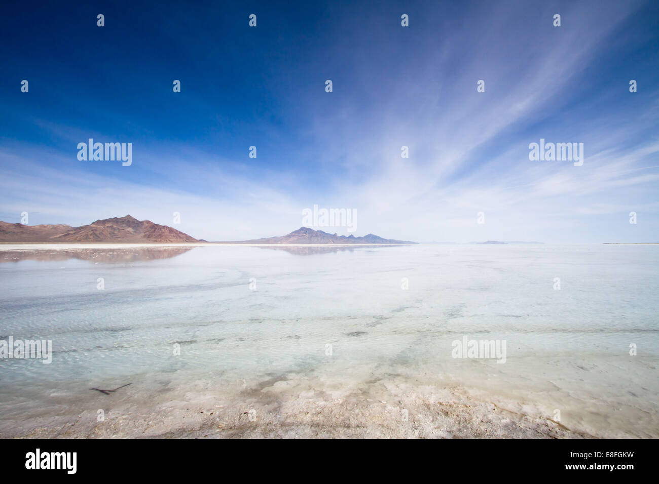 Great Salt lake, Salt Lake City, Utah, America, USA - Stock Image