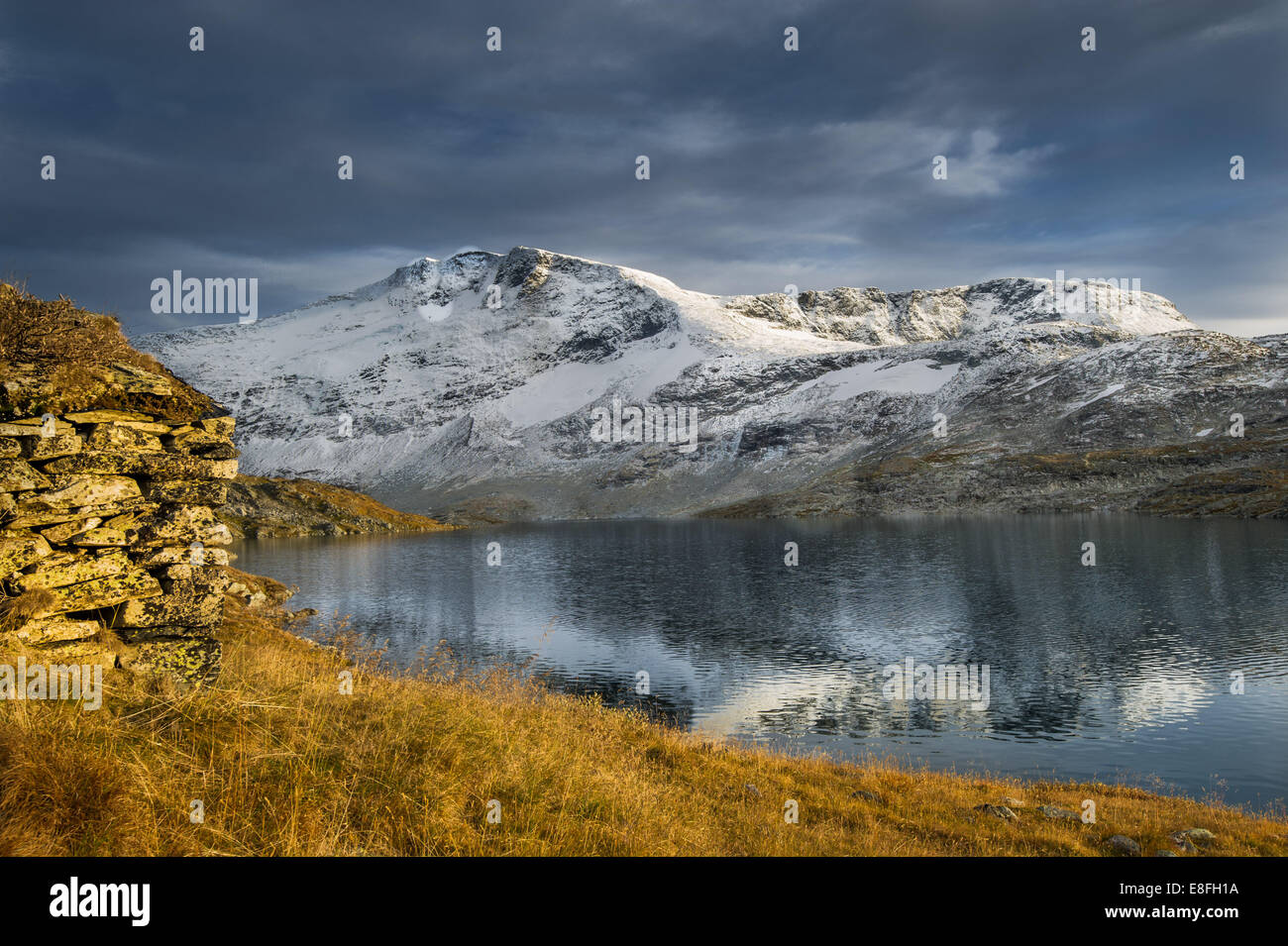 Stone shelter in Norway - Stock Image