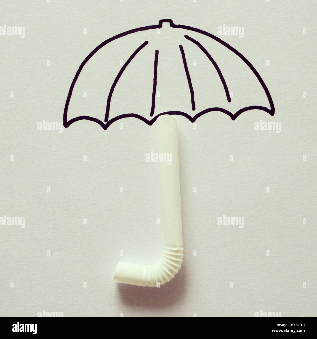 Conceptual umbrella - Stock Image