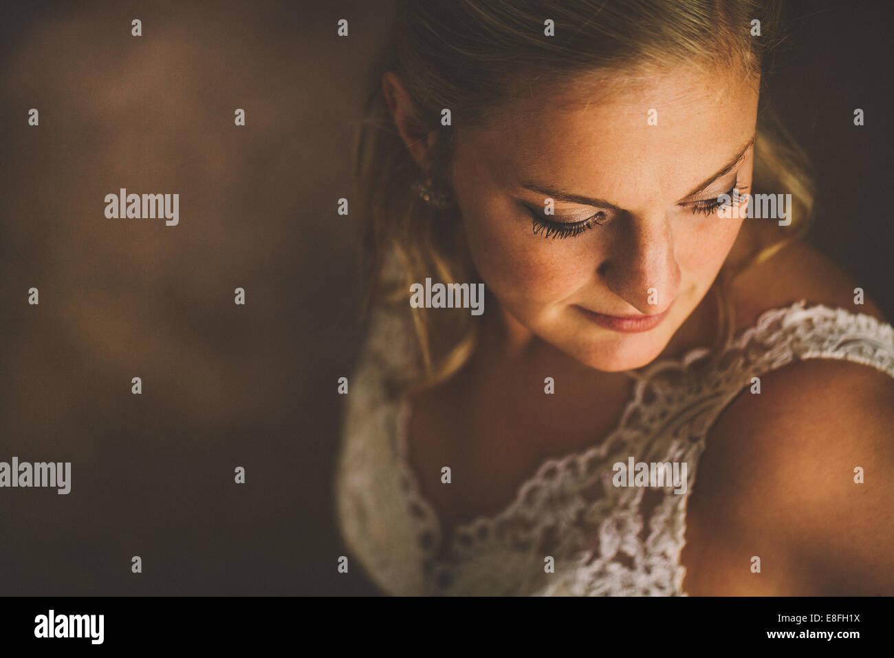 USA, Florida, Bay County, Bayou George, Portrait of bride - Stock Image
