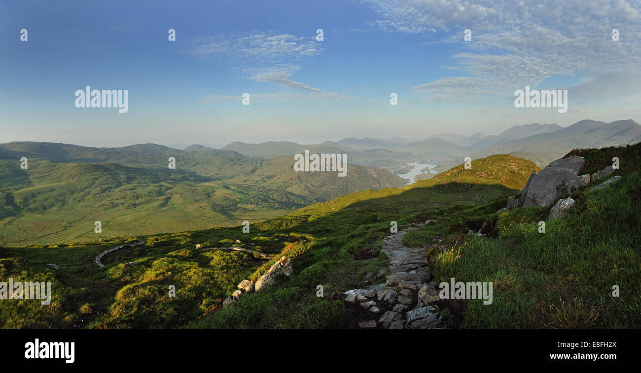 Ireland, Kerry County, View to Torc Mountain Stock Photo