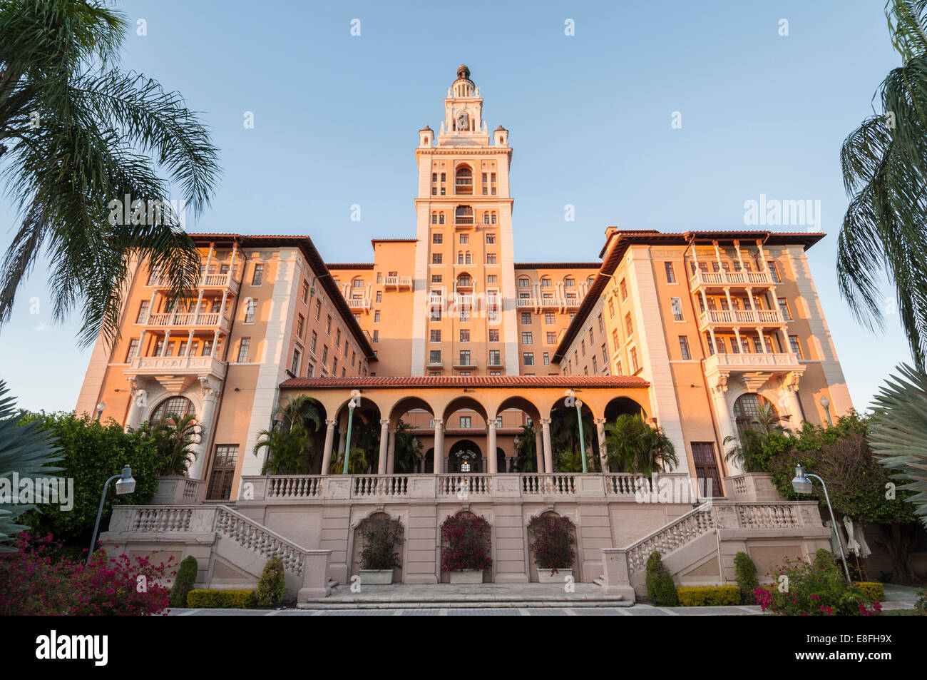 The historic and luxurious Biltmore Hotel which was built in 1925 located in Coral Gables, - Stock Image