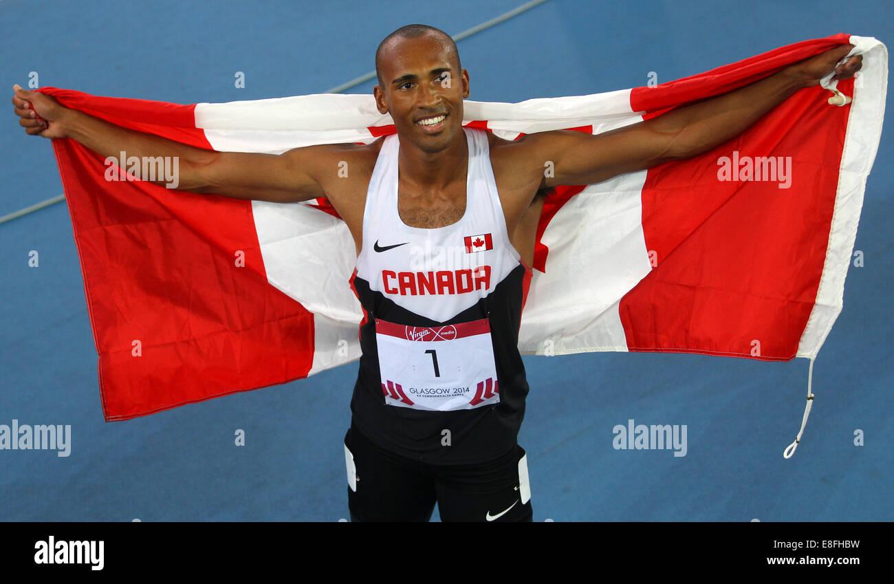 Damian Warner (CAN) Gold Medal - Decathlon. Athletics - Hampden Park - Glasgow - UK - 29/07/2014 - Commonwealth Stock Photo