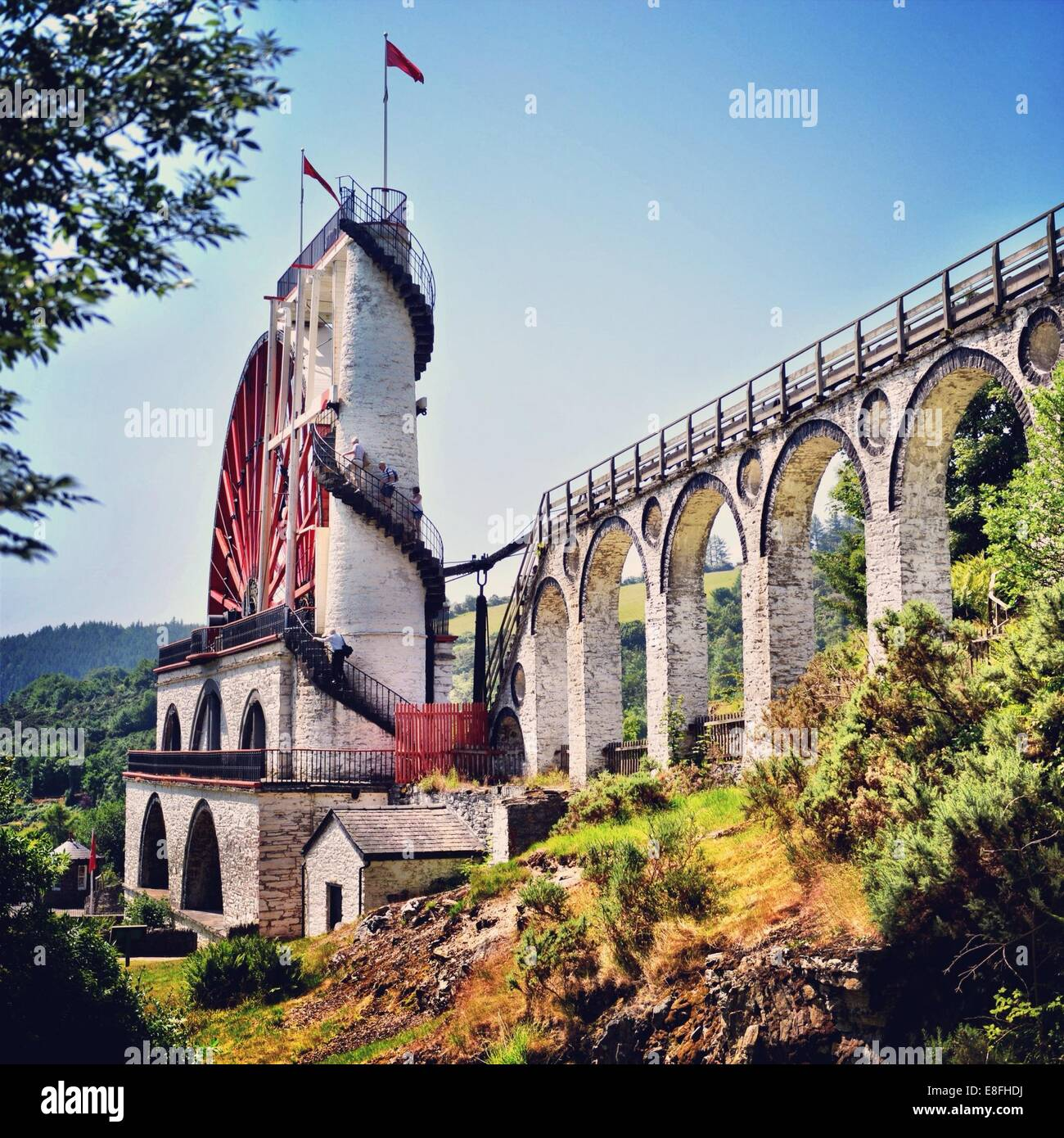 Isle of Man, Laxey, Laxey Wheel - Stock Image