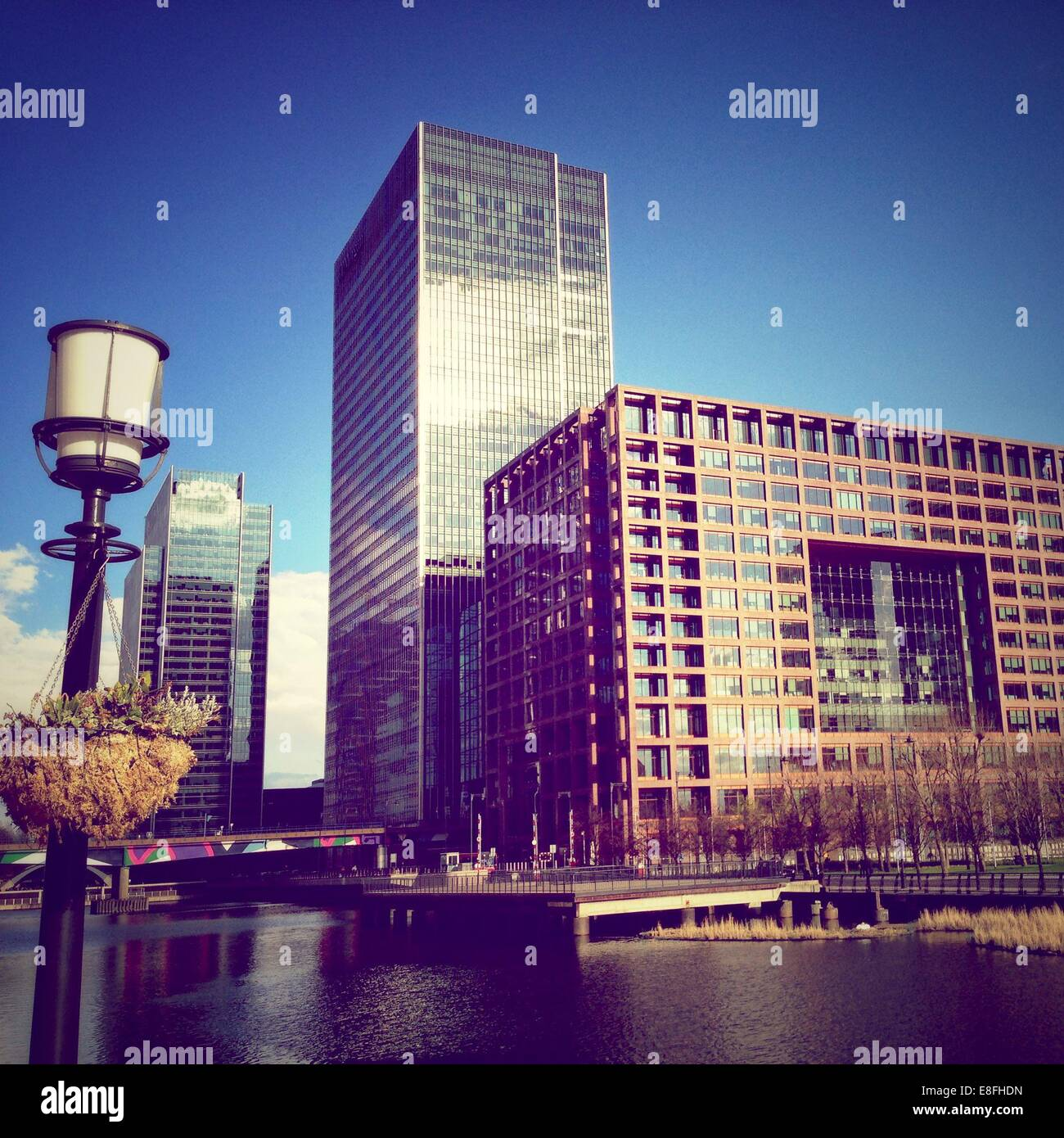 United Kingdom, London, Greater London, London Borough of Tower Hamlets, Poplar, Canada Square,   Canary Wharf - Stock Image