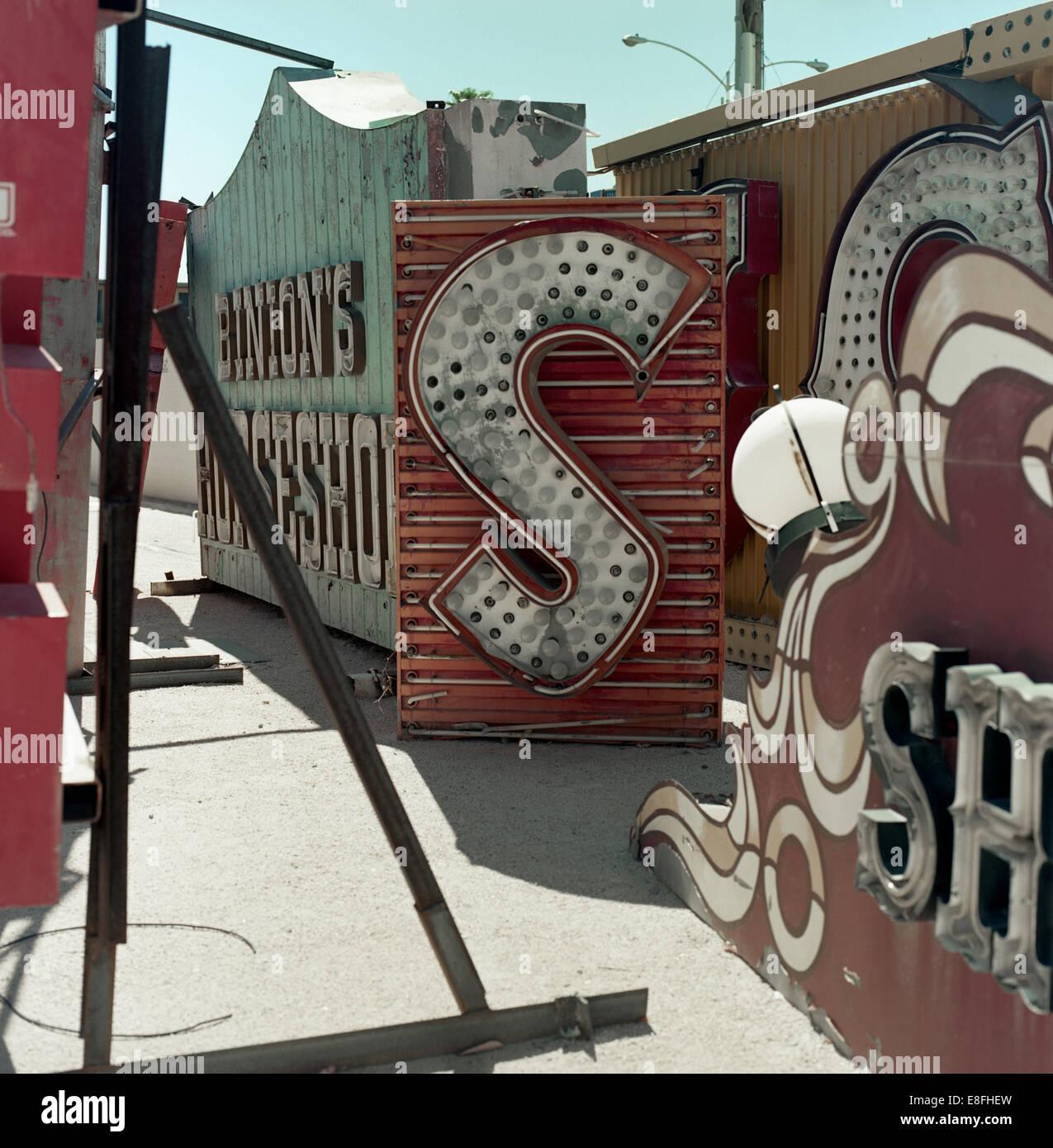 USA, Nevada, Clark County, Las Vegas, Back yard - Stock Image
