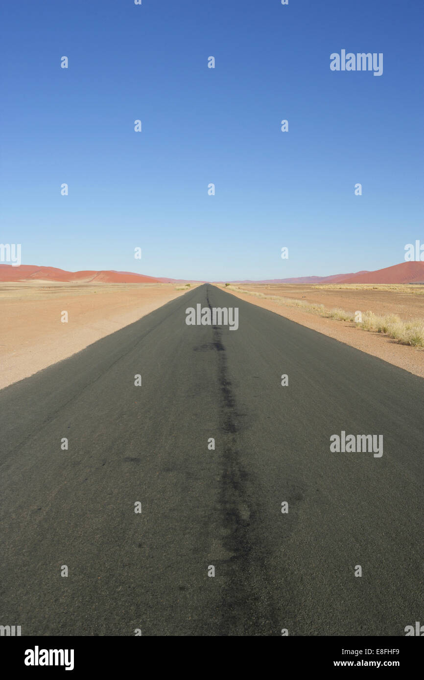 Empty road, Namibia - Stock Image