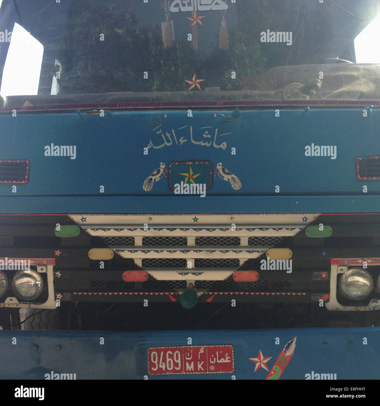 Oman, Muscat, Front of truck - Stock Image