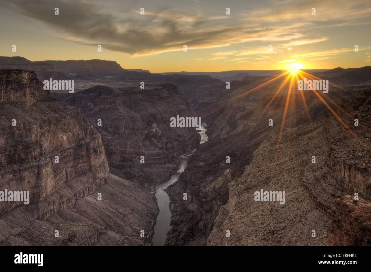 Arizona, Grand Canyon National Park, Sunset at Toroweap - Stock Image
