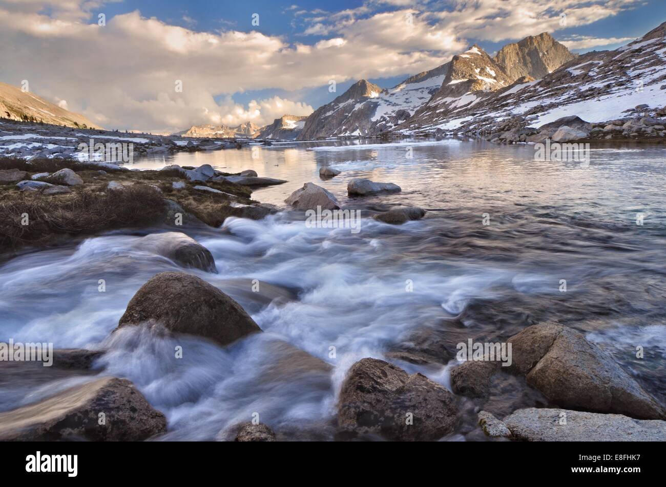 USA, California, Sequoia National Park, Nine Lake drainage and Eagle Scout Peak - Stock Image