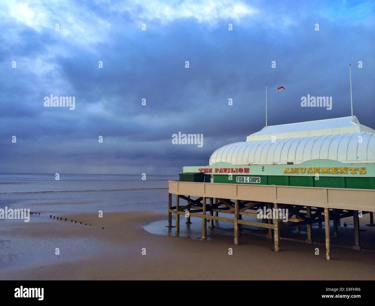 Pavilion and pier, Burnham-on-Sea, somerset, UK - Stock Image