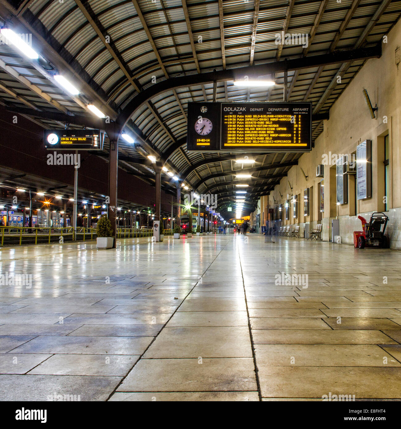 Croatia, Train platform - Stock Image