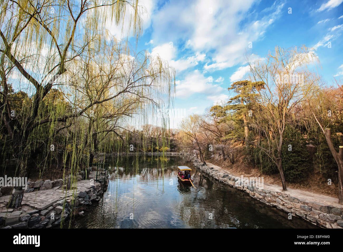 China, Hebei Province, Summer Palace in spring - Stock Image