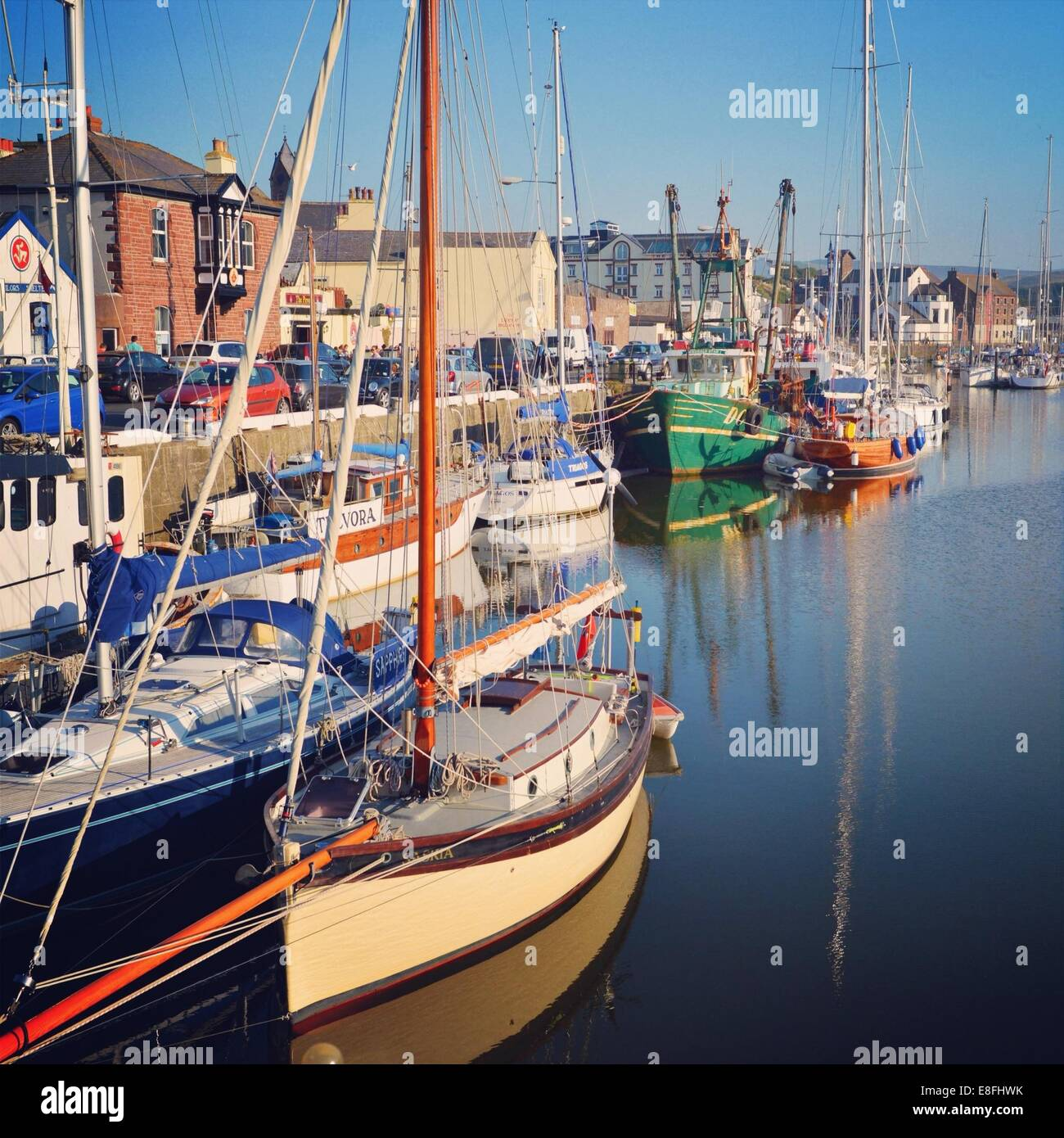 Docked boats - Stock Image