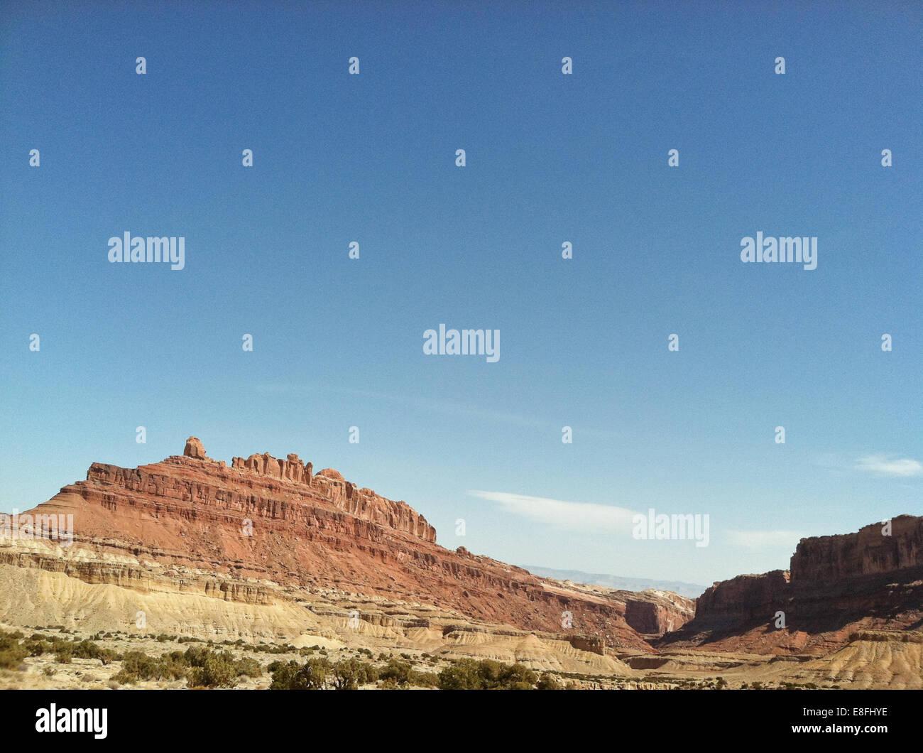 Mountains in desert - Stock Image