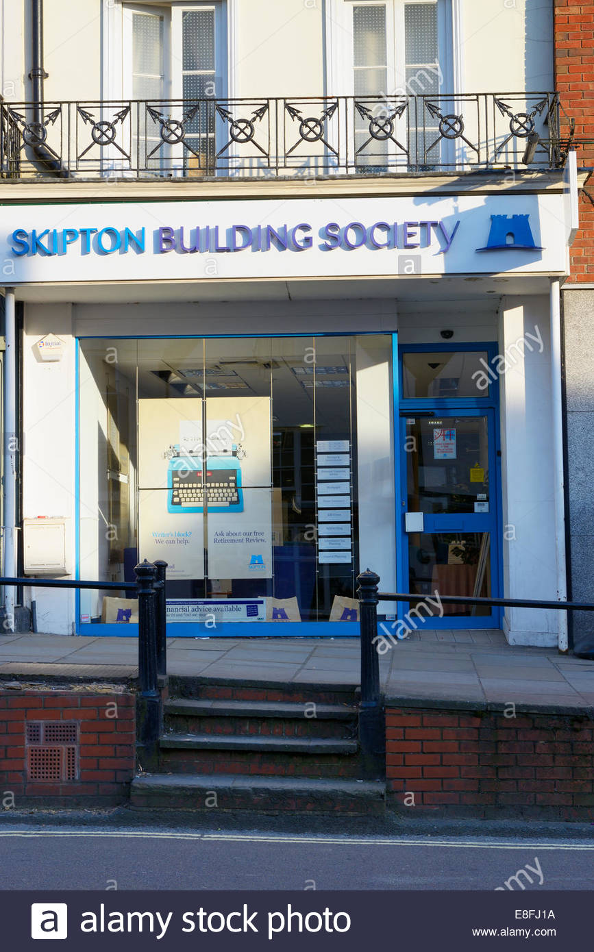 Skipton Building Society, High Street Dorking, Surrey, England UK - Stock Image