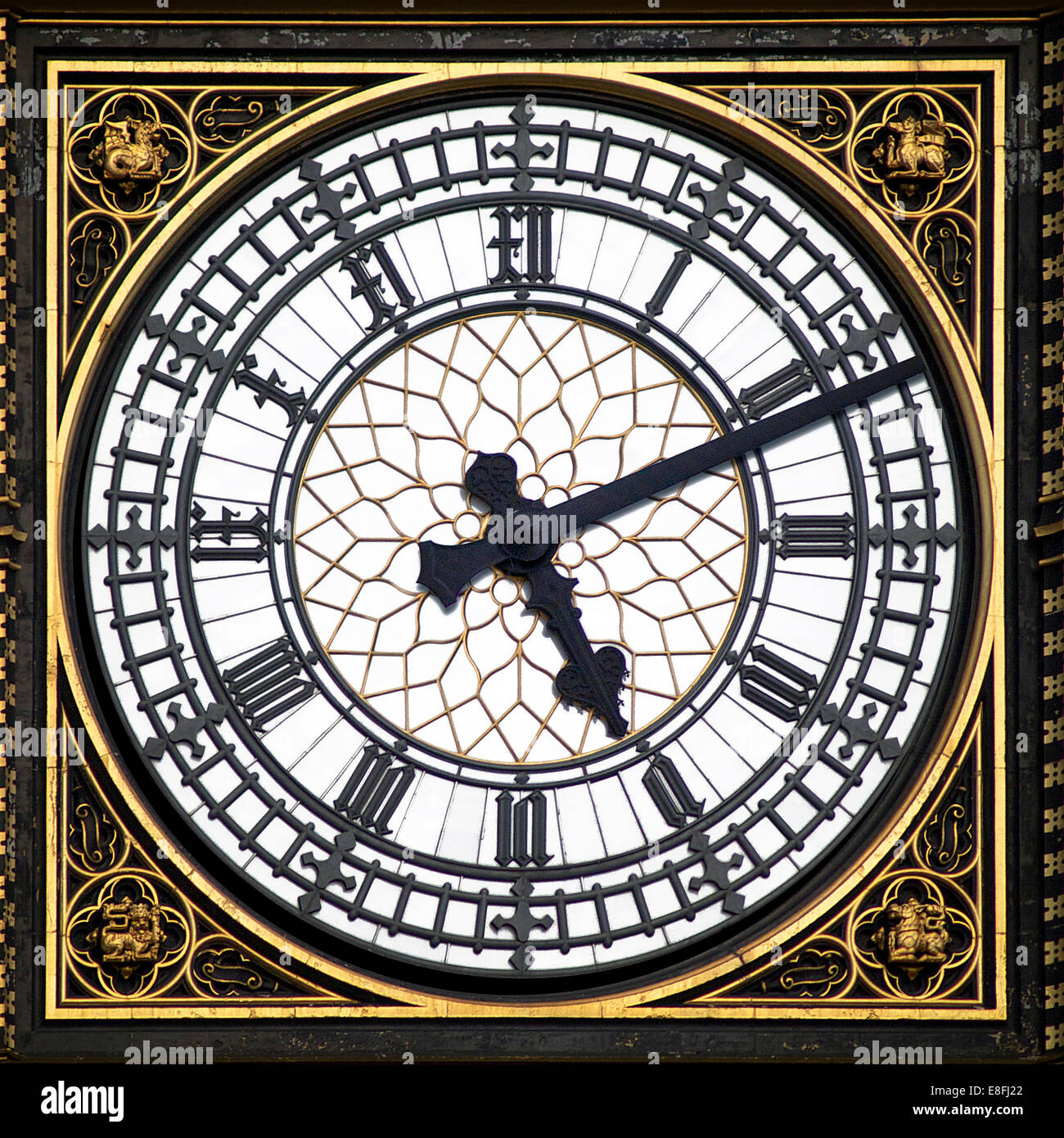 Big Ben clock face, London, England, UK - Stock Image