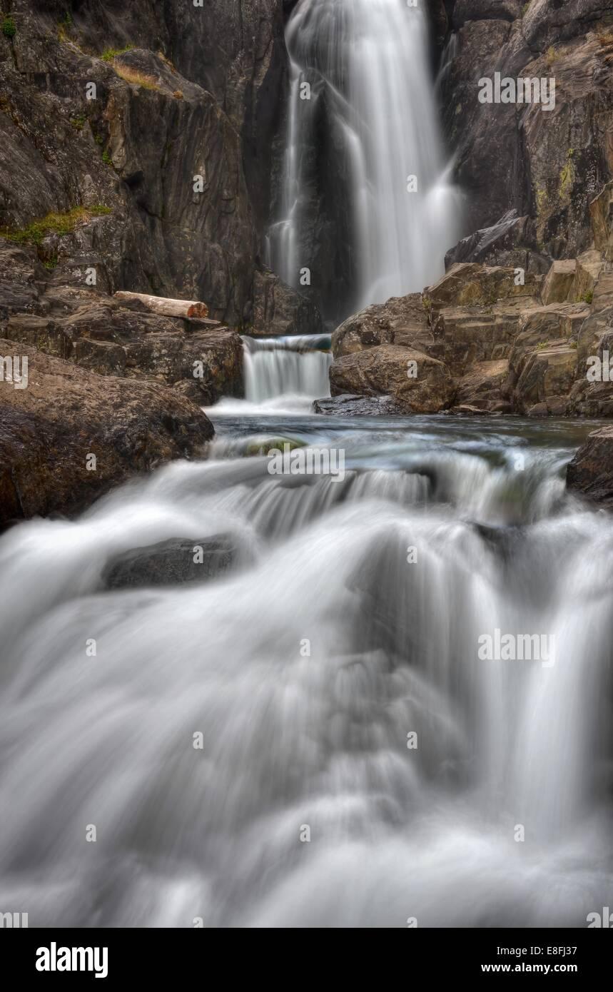USA, California, Inyo National Forest, Shadow Creek Falls - Stock Image